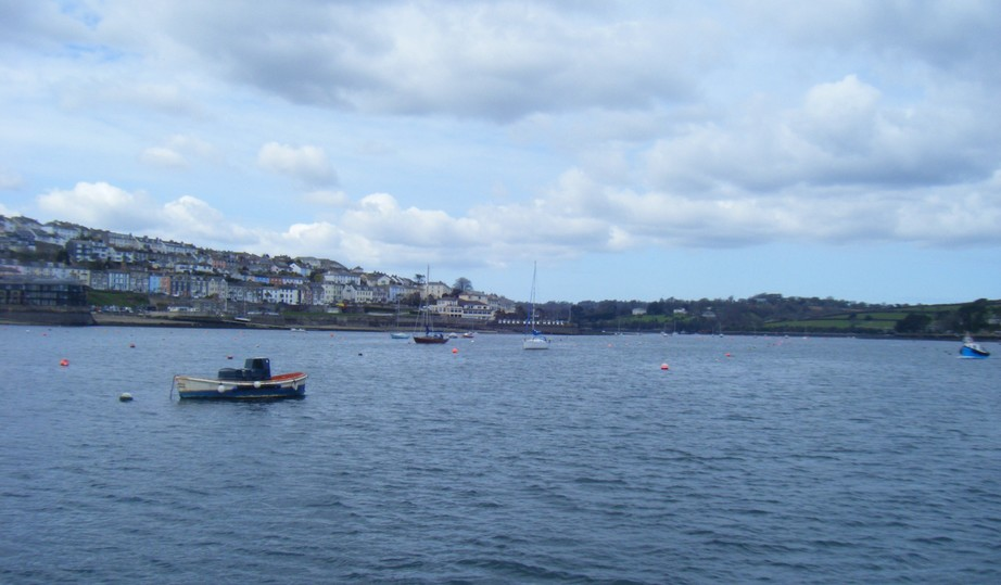 Looking across Falmouth harbour